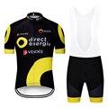 2019 conjuntos de energia direta da equipe ciclismo camisa ropa ciclismo dos homens pro verão bicicleta maillot wear mtb gel almofada shorts conjunto