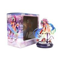 Anime Huby Dora NO GAME NO LIFE Zero GAME LIFE White 3 Generation Poker PVC Action Figure Collectible Model Toy