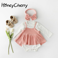Spring Baby Bodysuits Infant Skirt Bottom Dress Bow Tie And Baby Girl Suit In 2020 Baby Girl Clothes  Newborn Bodysuit set