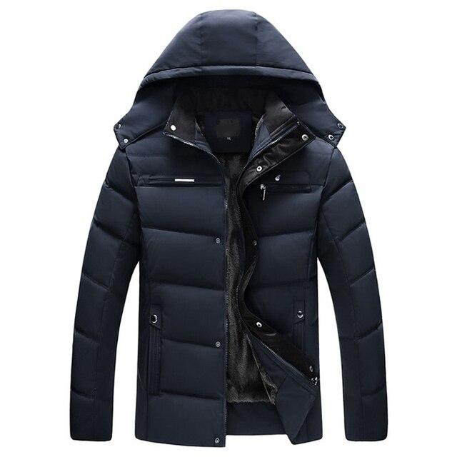 drop shipping Men Winter Jacket -20 Degree Thicken Warm Men Parkas Hooded Fleece Man's Jackets Outwear Jaqueta Masculina ABZ30