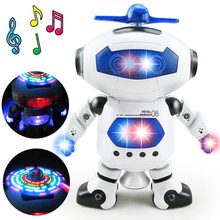 Moonbiffy Space Dancing Humanoid Robot Toy With Light Children Pet Brinquedos Electronics Jouets Electronique for Boy Kid(China)