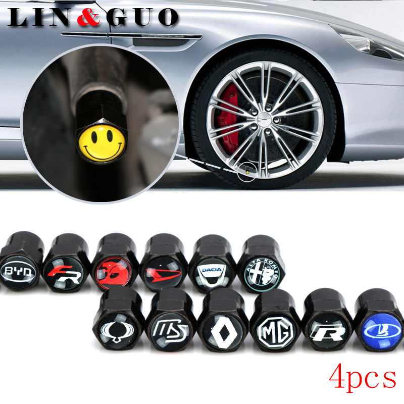 4pcs Car Badge Wheel Tire Valve Cap Tyre Dust Caps For renault lada mazda MG daihatsu byd dacia ssangyong car accessories одеяло двуспальное primavelle rosalia