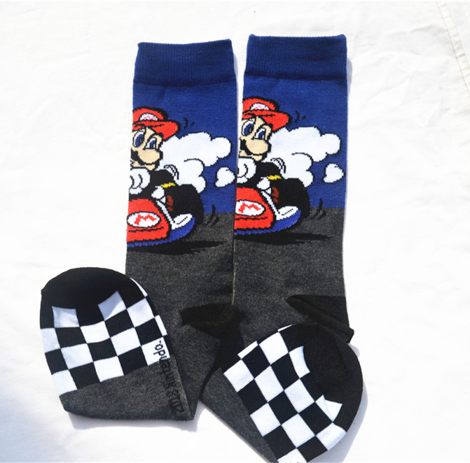 Men's Socks Game Super Mario Socks Street Cosplay Cotton Comics Women Men Donkey Kong Mario Bros Socks Party Novelty Funny Party Halloween