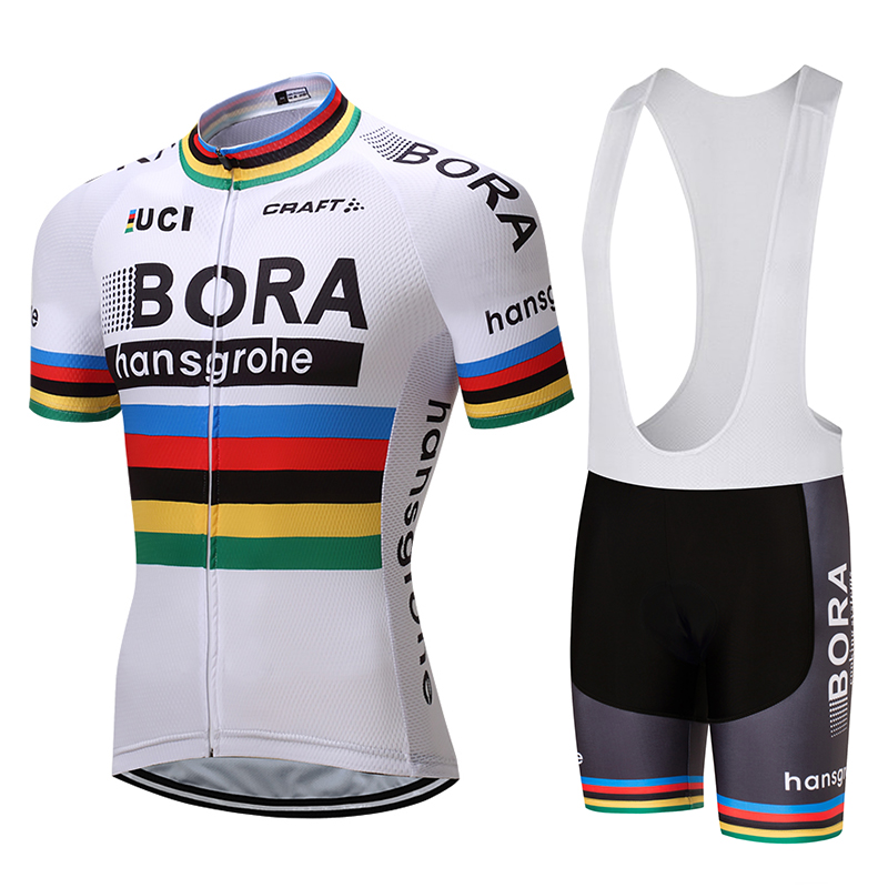 Bora Cycling 2017 Team Jersey Bicycle Bib Shorts Set Men Breathable Ropa Ciclismo MTB Bike Summer Quick Dry Riding Wear AC0213 summer breathable bicycle bike mtb wear cycling short sleeve jersey jacket cloth clothing maillot ropa ciclismo shorts pant bib