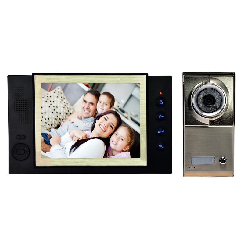 (1 Set) Smart Home Visible Door Bell 1 To 1 Door Intercom System Access Control 8 Inch Colorful Display Waterproof Talking Back