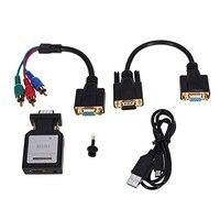 HDV M618 Mini HDMI Para VGA Ypbpr SPDIF Conversor De Áudio adaptador Mini HDMI para VGA + Ypbpr Interruptor De Áudio e 3.5mm preto