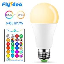 2019 новый «ZH29» белый + RGB светодиодный светильник 10 Вт 15 Вт изменение цвета RGBW Волшебная умная лампа 110 В 220 В E27 дневной свет ИК пульт дистанционного управления