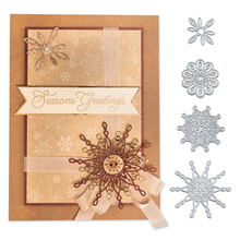 Julyarts Scrapbooking Dies 4pcs/set Snowflake Cutting Christmas Snow Metal Stencils Die Cut for DIY Album Card