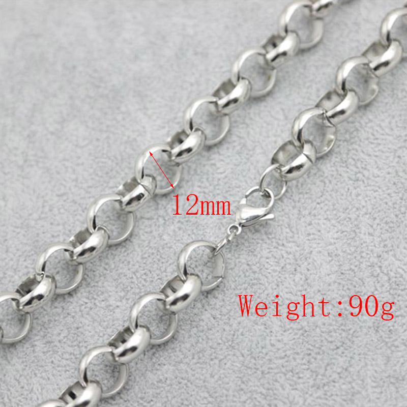 10pcs New Pattern 316 Stainless Steel 24inch 12mm rolo necklace Chains for lockets Pendant Women Men цена 2017