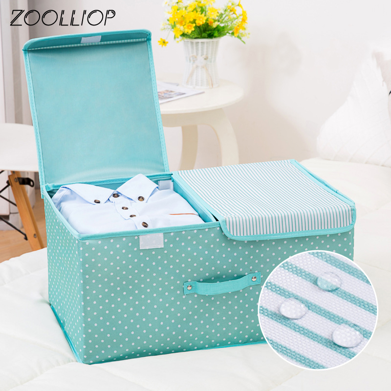 Storage-Box Household-Items Fashion Quilt Clothing With Cap For Finishing Hot