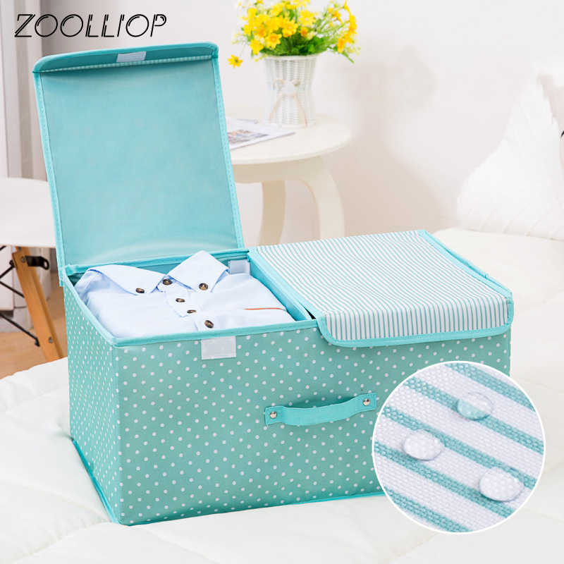 Fashion hot 2019 Household Items Organizer Storage Box Clothes Quilt Finishing Dust Box Organizers Boxes with cap For Clothing