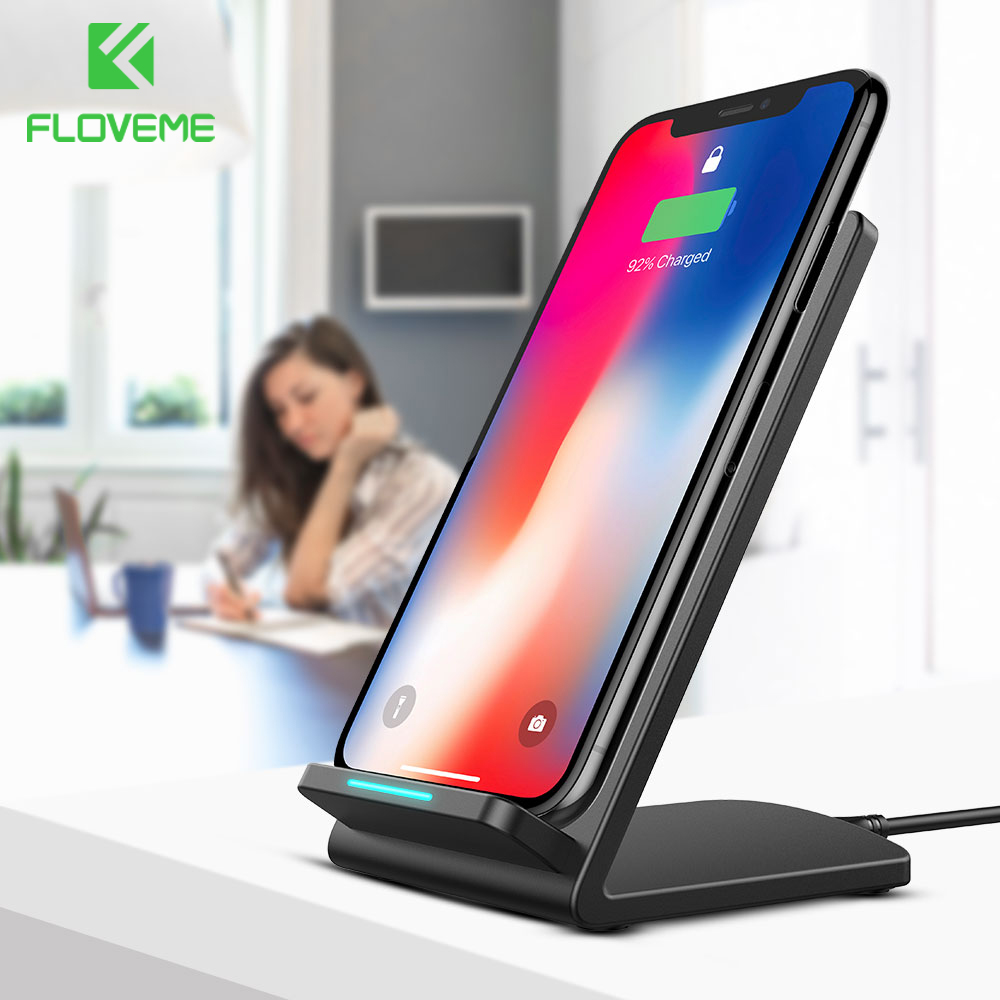 FLOVEME 5V/9V Qi Wireless Charger For Samsung Galaxy S8 S7 S9 Note 8 For iPhone X 8 8 Plus Google Nexus 4/5 Fast Charging Dock