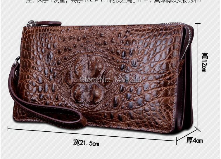 Genuine Real Tail Crocodile Alligator Skin Leather Man Bifold White Wallet