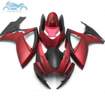 Upgrade your Injection Fairing for Suzuki GSXR 600 2006 2007 GSXR600 750 ABS plastic fairings kit GSXR 750 K6 06 07 rose red