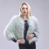 FXFURS New Knitted Raccoon Fur Coat Full Sleeve Raccoon Fur Jacket soild color fashion fur outerwear in winter