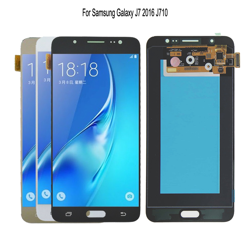 LCD d'origine pour SAMSUNG Galaxy J7 2016 J710 écran tactile d'affichage à cristaux liquides pour SAMSUNG J7 2016 écran LCD J710F 5.5 ''AMOLED affichage