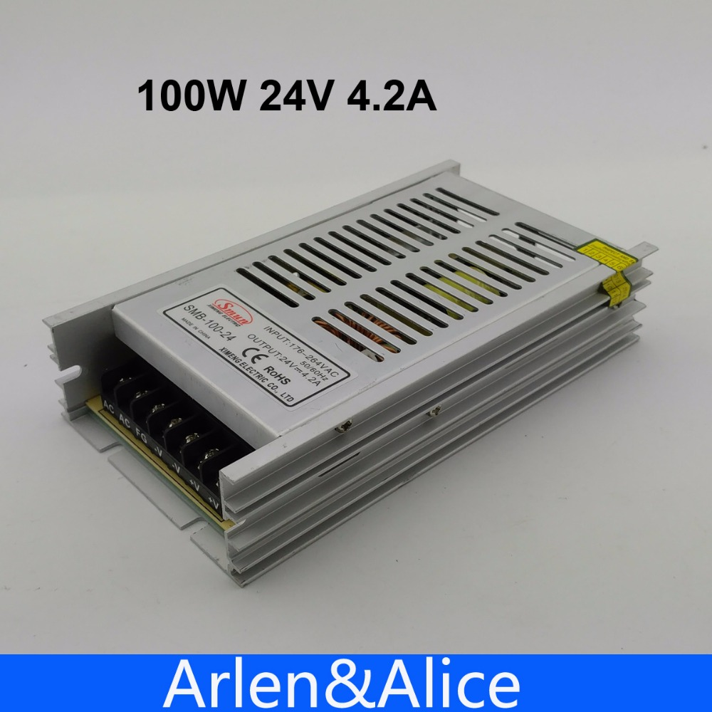 100W 24V Ultra thin Single Output Switching power supply for LED Strip light free shipping 35w 24v 1 5a single output mini size switching power supply for led strip light ms 35 24