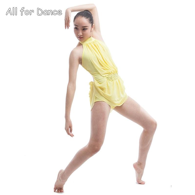 Online Shop Lyrical Biketard Design Dress Ballet Costume Yellow ...