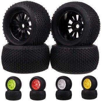 4PCS RC 1:8 Off Road Monster Truck 17mm Hub Wheel Rim & 140mm Tires,Tyre 62012