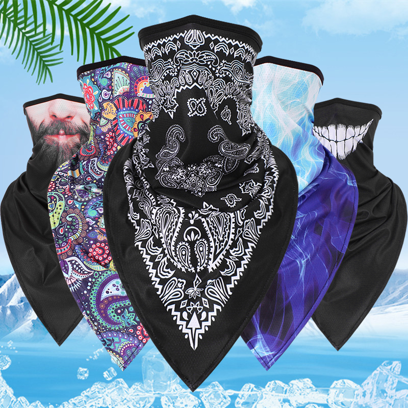 New Trend Motorcycle Windproof Bandana Scarf Magic Multifunctional Half Face Mask Balaclavas Snowboard Neck Triangle Scarf Hats(China)