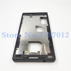 Image 4 - Original Full Housing LCD Panel Middle Frame For Sony Xperia Z5 Compact E5803 E5823 Battery door Cover Side Button With Logo