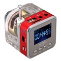 Venta caliente Nizhi TT028 Digital FM Radio Mini Altavoz de la Música Portátil de Radio del altavoz SD/TF USB Mp3 Pantalla de la Radio FM de radio con reloj