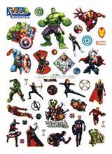 LC-882 Big Cartoon Avengers Tatuagem Taty Body Art Temporary Tattoo Stickers Colorful Power Man Super Tatoo Sticker