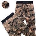 Corredores Sweatpants Homens Do Exército Militar de Camuflagem de inverno Cintura Elástica Calças Quentes Calças Grossas Outwear Ocasional Hip hop Dança Jogger