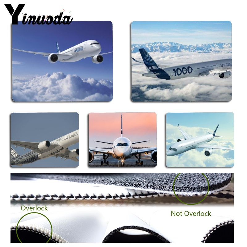 Yinuoda Cool New Airbus A350 Plane Gamer Speed Mice Retail Small Rubber Mousepad Size for 18x22cm 25x29cm Rubber Mousemats