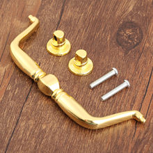 1Pc Gold Wooden Wine Gift Box Furniture Handle Cabinet Knob and Handles Drawer Door Cupboard Pull Handle Kitchen Knob 150*53mm(China)
