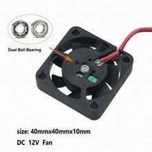5 шт. Gdstime 15000 об./мин. 40x40x10 мм DC 12 В шариковый подшипник вентилятора охлаждения 40 мм x 10 мм 4 см радиоуправляемая модель корпус Cooler 4010 0.35A