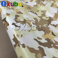 New Design Large Desert Vinyl Film Wrap Army Yellow Camouflage Sticker Decal Sheet Film With Air Bubble Free
