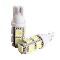 2PCS Light Car Tail Lamp Bulb 194 168 W5W T10 9SMD 5050 LED White Bright CLH