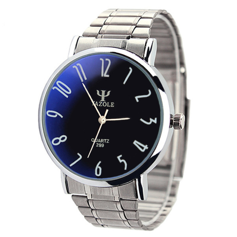 Irisshine #72 high quality Men watches brand gift Mens Stainless Steel Business Quartz Wrist Watch <font><b>Blu-ray</b></font>