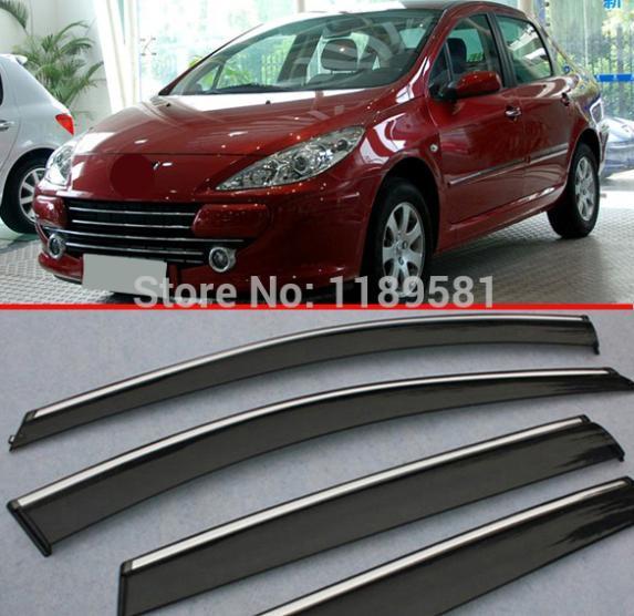 Для Peugeot 307 hatchback (5DR) Окно Ветер Дефлектор Козырек Дождь/Вс Гвардии Vent
