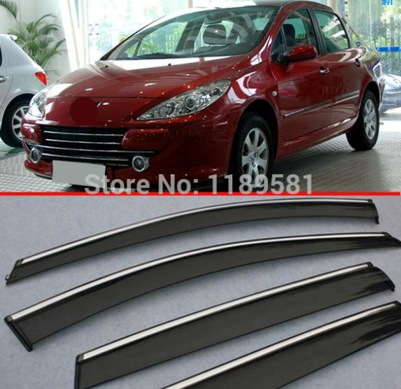 For Peugeot 307 hatchback(5DR) Window Wind Deflector Visor Rain/Sun Guard Vent