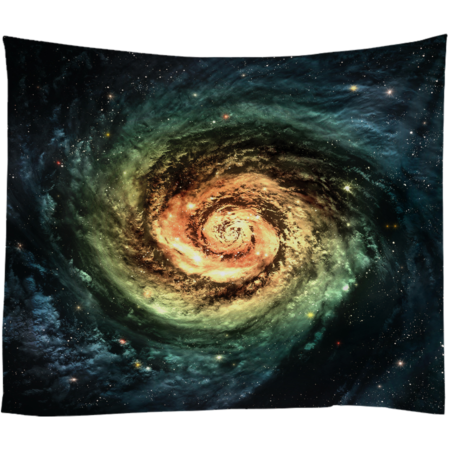 Nordic Elk Galaxy Hanging Wall Tapestry Psychedelic Hippie Home Decor Wall Blanket Yoga Beach Towel Polyester Fabric Blue 3 Size in Tapestry from Home Garden