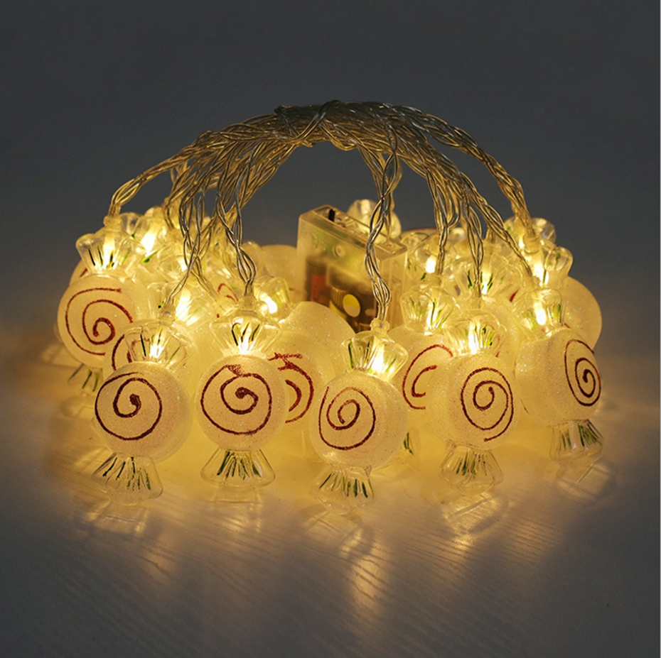 YINGTOUMANT NEW Lovely Candy Type Lamp USB LED String Light Christmas Holiday Wedding Party Decoration Lighting 4m 20LED