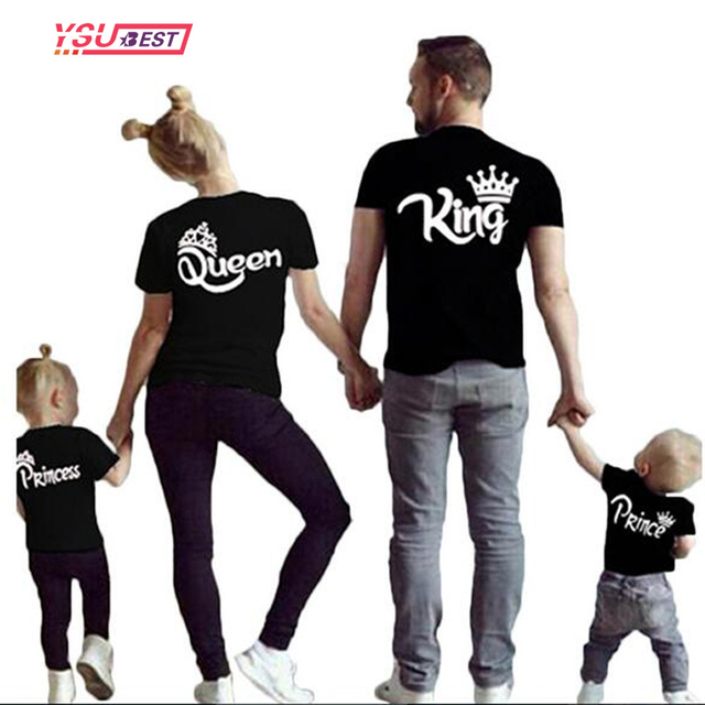 e5c0557476 New Matching Family Shirts Family Matching Clothes Matching Father Mother  Daughter Son Clothes Cotton T-shirt King Queen Clothes