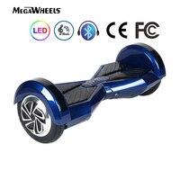 Ховербордом 8 Megawheels TW02 1 электрический самостоятельно баланс скутер Bluetooth DE склад Бесплатная DHL доставка ХОВЕРБОРДА сумка (синий)