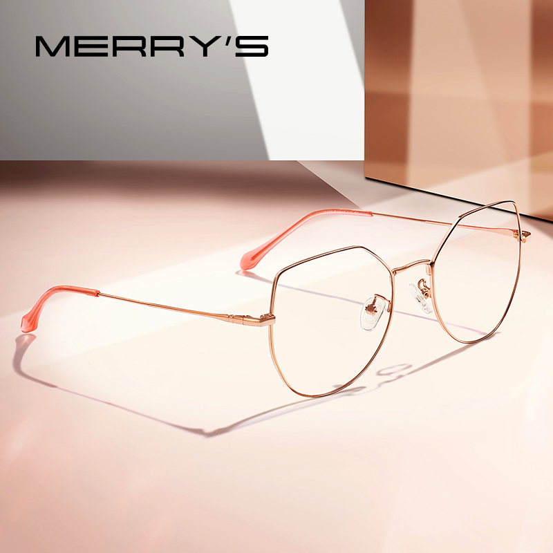 MERRYS DESIGN Women Fashion Blue Light Blocking Optical Frames Ultralight Cat Eye Myopia Prescription Eyeglasses S2025