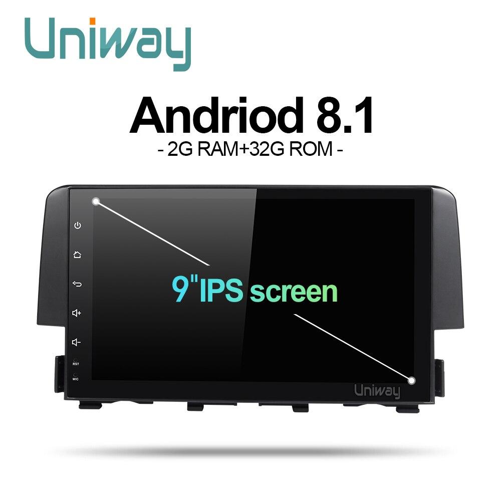 Honda Civic Indash Navigation 2017: Uniway Android 8.1 Car Dvd Gps Player For Honda Civic 2016