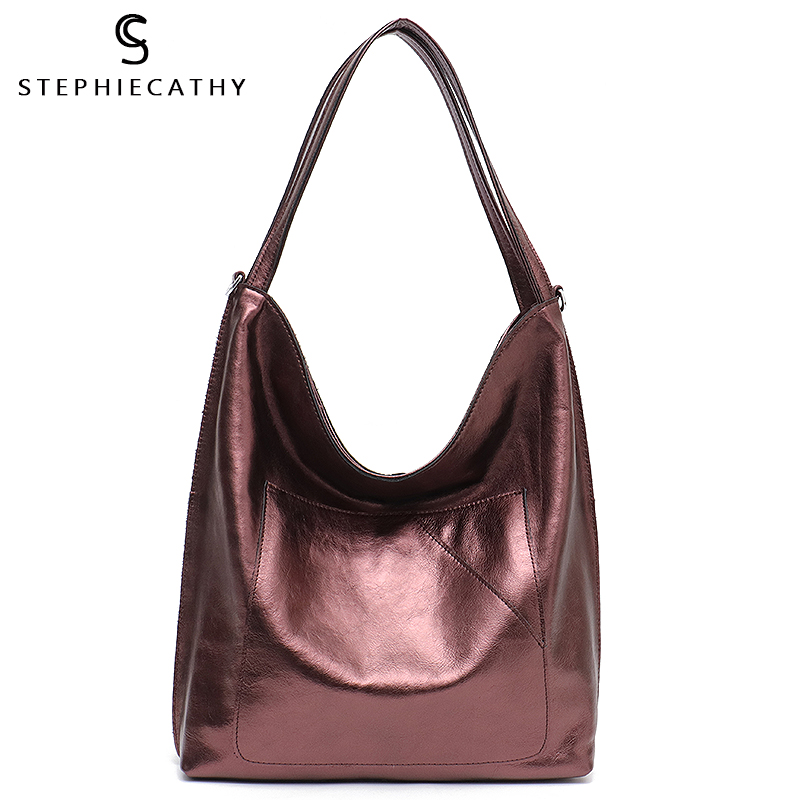SC New Fashion Luxury Leather Women Hobos Large Capacity Shoulder Bags Ladies Real Leather Soft Handbags Female Casual ToteSC New Fashion Luxury Leather Women Hobos Large Capacity Shoulder Bags Ladies Real Leather Soft Handbags Female Casual Tote