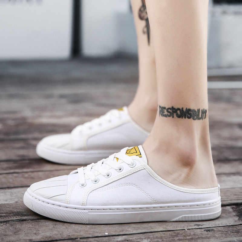 Moda hombre lona Loafer Hombre Zapatos verano 2019 zapatillas Homens Slipon hombres zapatillas blancas hombres zapatos casuales hombre Schoenen Sapatos