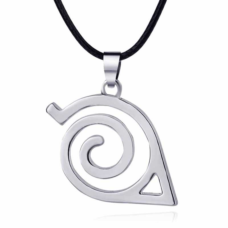 Hot Sale  Anime Naruto Necklace Leaf Village Symbol Cosplay Pendant Necklaces Fashion Hollow Pendant Jewelery Necklace