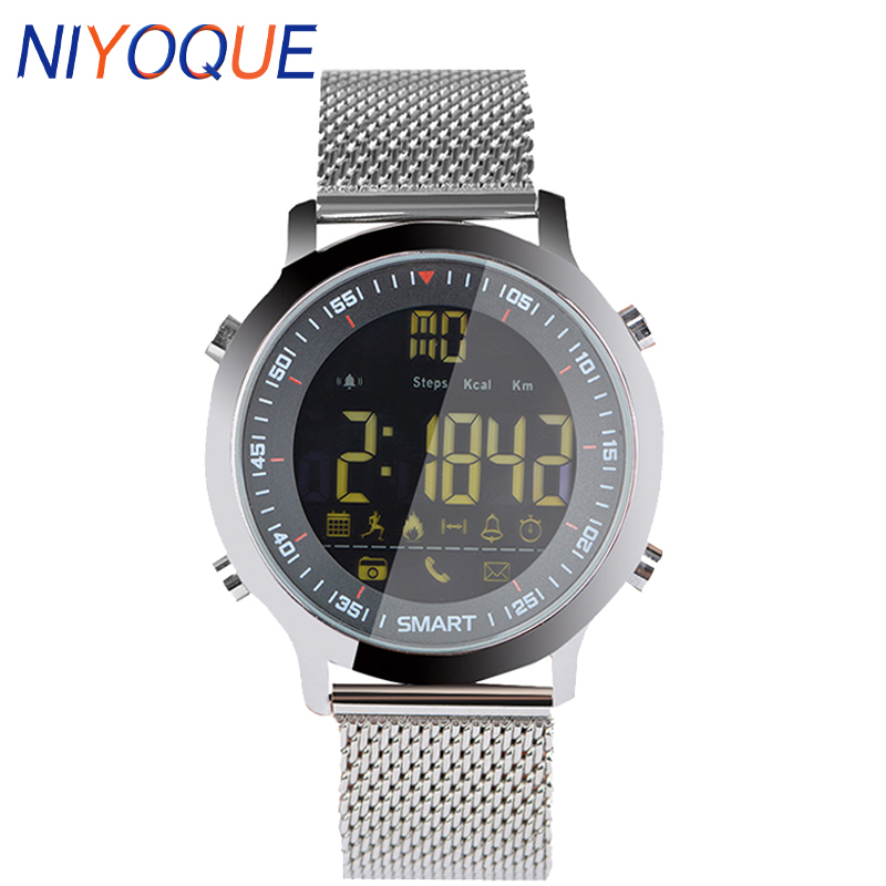 NIYOQUE <font><b>EX18</b></font> IP67 Waterproof Bluetooth 4.0 <font><b>Smart</b></font> <font><b>Watch</b></font> Call SMS Notification <font><b>Smart</b></font> Alarm Clock Sportwatch for Android IOS Phone image