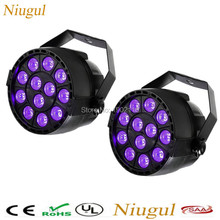 2pcs/lot 12 LEDs 36W Sound Active purple Stage Par Light Violet Led Spotlight Lamp for Disco DJ Projector home Party PAR lights