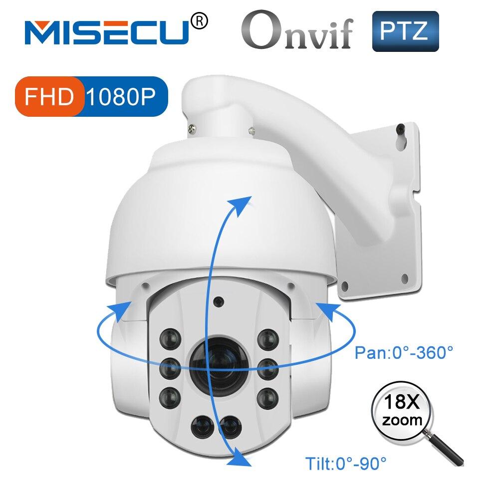 Misecu PTZ IP Камера зум Открытый 108 P телеметрией 18x оптический моторизованный Len Скорость купол ночного видения P2P сети Onvif Водонепроницаемый