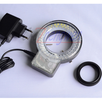FYSCOPE On Sale led light 72 LED Four Zone Microscope Ring Light with Adapter 90 240V adaptor