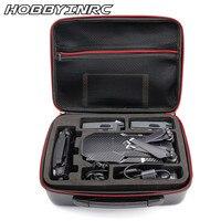 HOBBYINRC PU Carbon Grain Backpack Hard Portable Bag Shoulder Storage Bag Water Resistant Portable For DJI